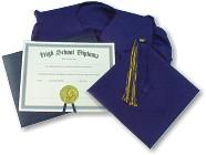 Graduation Caps, gowns, diplomas