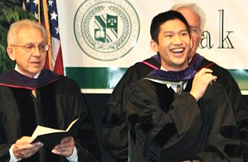 Elliot Ko graduates from Oak Brook law school.