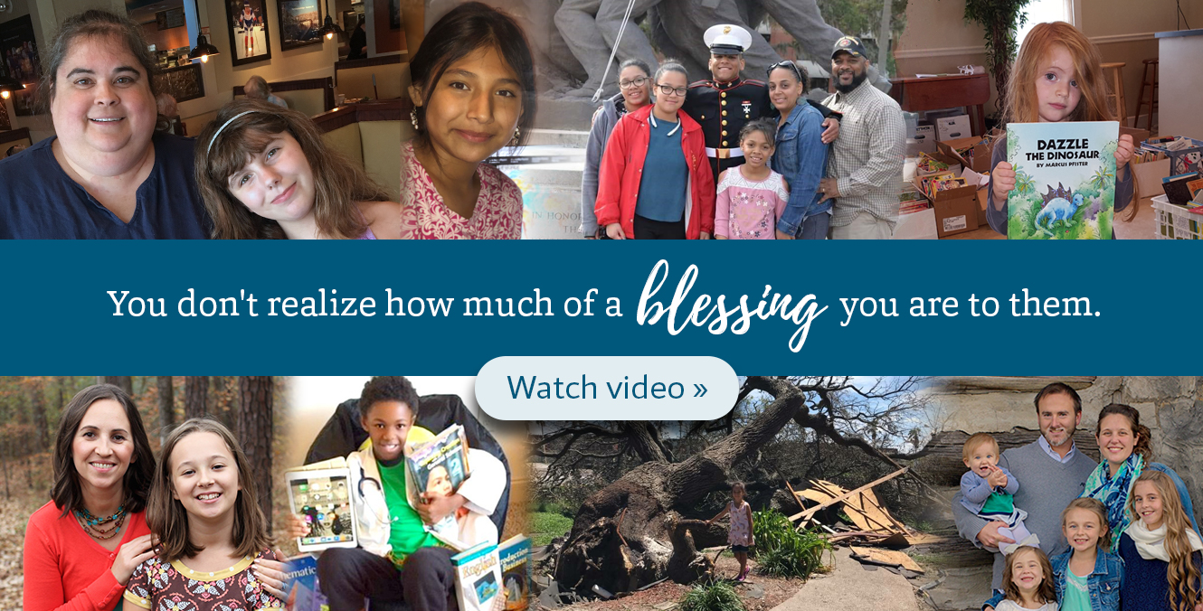 See how your donation blessed homeschool families across the country >>