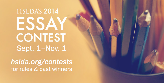 HSLDA's Annual Essay Contest for homeschooled students ends November 1! Get more details now.