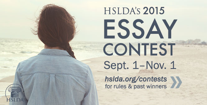 HSLDA's Annual Essay Contest for homeschooled students ends November 1! Enter now >>