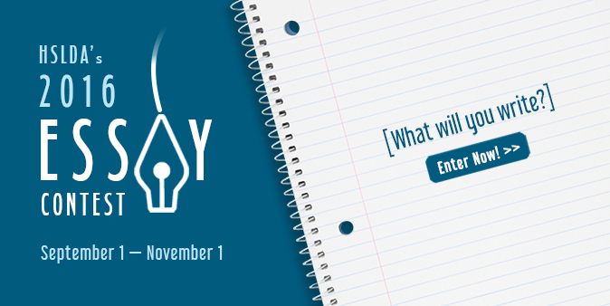 Enter HSLDA's 2016 Essay Contest for homeschooled students before November 1! Get the details >