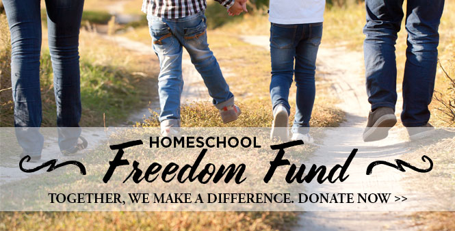 Help us defend homeschooling freedom and parental rights. Donate to the Homeschool Freedom Fund now! >>