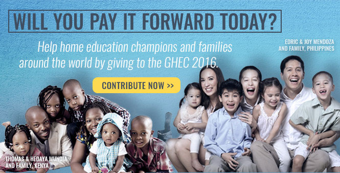 Pay it forward! Donate to the Global Home Education Conference 2016 today >