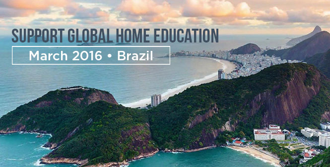 Support global homeschooling. Learn more about the Global Home Education Conference in Rio in March 2016. >>