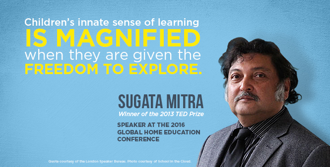 Join Sugata Mitra at the Global Home Education Conference in Rio in March 2016. Learn more >>