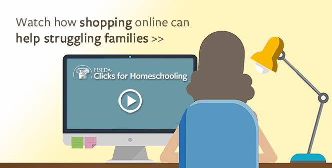 Learn how shopping online can help struggling homeschool families >>