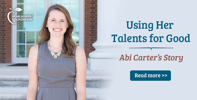 Abi Carter is using her talents for good. Read her story now >>