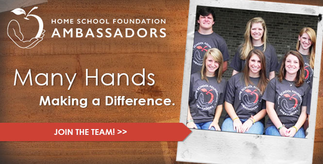Make a difference in your homeschool community! Become an HSF ambassador today! >>