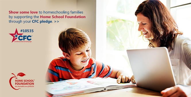 Show some love to homeschooling families by supporting the Home School Foundation through your CFC pledge. Learn more>>