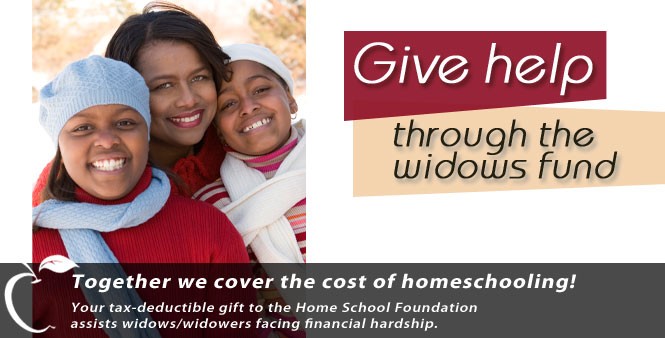 Enable widows/widowers to continue homeschooling by helping them with curriculum and other needs. Donate now!
