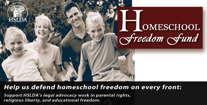 Help us defend homeschooling freedom and parental rights. Donate to the Homeschool Freedom Fund now!
