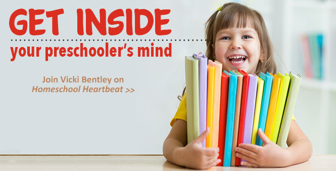 Homeschooling a preschooler? You won't want to miss these tips and insights from Vicki Bentley. Listen now >>
