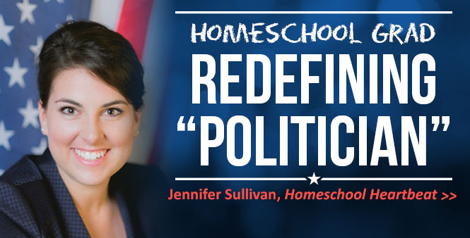 Homeschool grad Jennifer Sullivan is redefining what it means to be a politician. Listen now >>