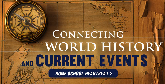 World history is often connected to today's headlines. Join Dr. David Aikman for intriguing ways to help your kids explore the past. Listen to this week's Home School Heartbeatprogram >>