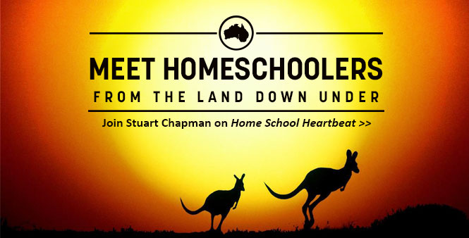 Learn about Australia's homeschoolers with Stuart Chapman on Home School Heartbeat. Listen now >>