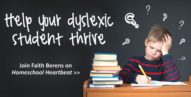 Homeschooling a dyslexic student? Hear tips and encouragement from HSLDA special needs consultant Faith Berens. >>