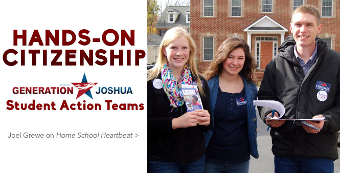 Calling all teens ages 11–19! Learn how you can make a difference through Generation Joshua's Student Action Teams. Listen to Home School Heartbeat >>