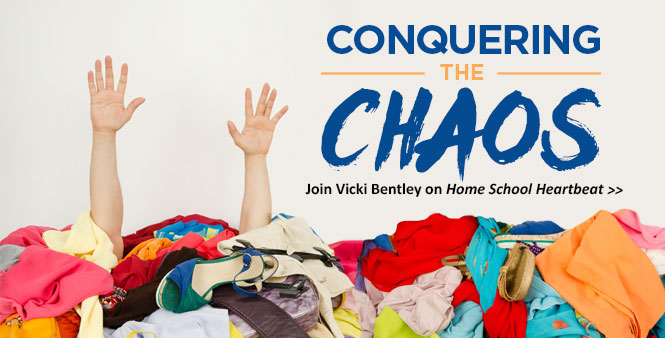 Looking to conquer that clutter and organize your homeschool? HSLDA consultant Vicki Bentley has tips for you. Listen now >>