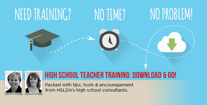 High school teacher training for homeschooling parents: download MP3 files & go!