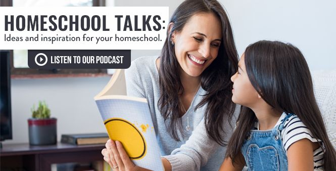 Join HSLDA's Homeschool Talks Podcast for ideas and inspiration for your homeschool. Listen now >>