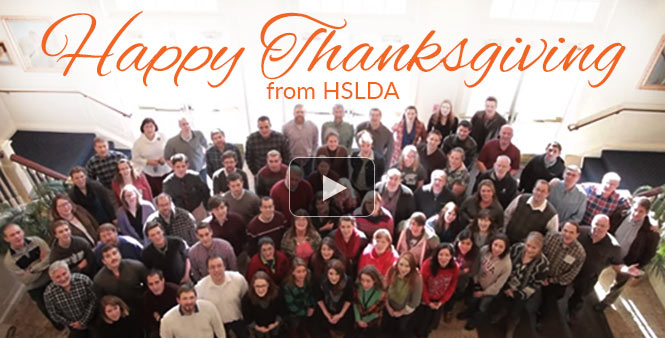 Happy Thanksgiving from HSLDA! Watch our latest video >