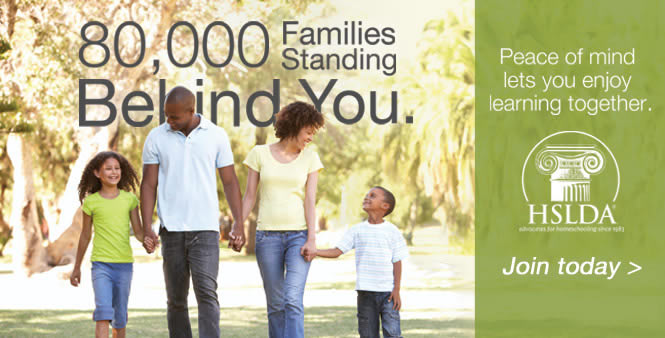 When you join HSLDA, there are 80k other families supporting you and your homeschool. Join today >>