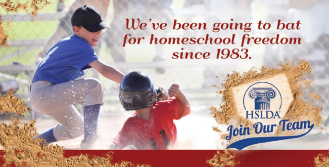 HSLDA has been going to bat for homeschool freedom since 1983. Sign up today!