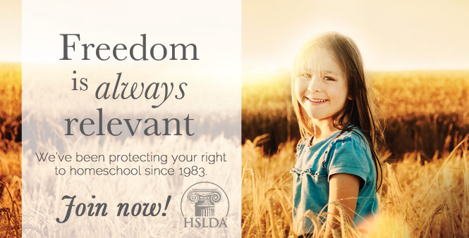 Join HSLDA and pass on the same homeschool freedom you enjoy to your children and grandchildren >>