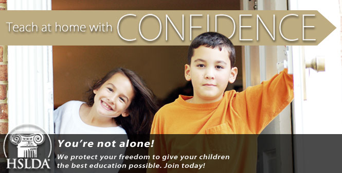 Teach at home with confidence… you're not alone! HSLDA protects your freedom. Join today!