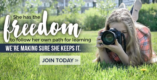 Join HSLDA to make sure your children have the freedom to follow their own path for learning >>