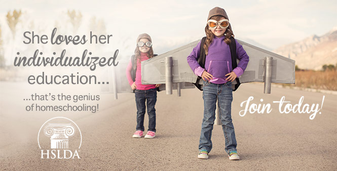 She loves her individualized education . . . That's the genius of homeschooling! Join HSLDA today >>