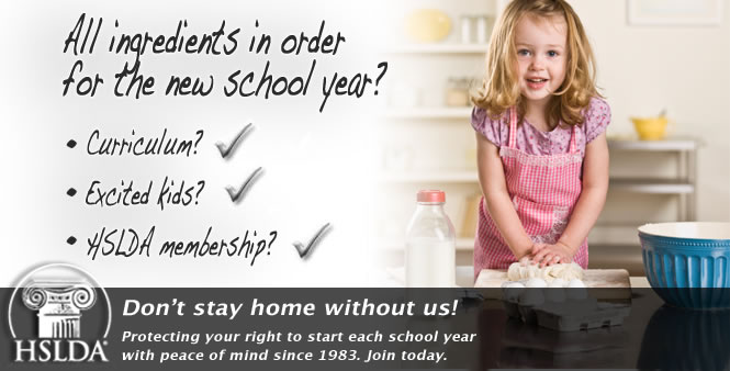 Ready for the new school year? Don't stay home without us! Join HSLDA today!