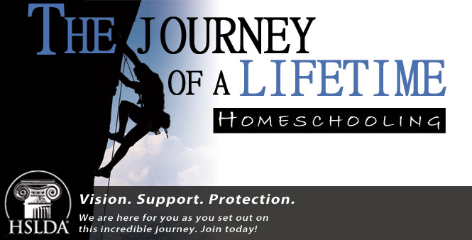 The journey of a lifetime: homeschooling. We are here for you as you set out on this incredible journey. Join HSLDA today!