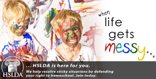 When life gets messy, HSLDA is here for you! Join today!