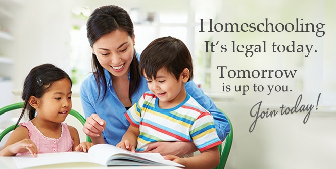 Homeschooling: it's legal today. Tomorrow is up to you. Join HSLDA today >>