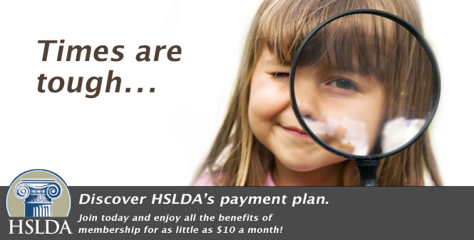 Do you know about HSLDA's payment plan to help make membership available to more homeschoolers?