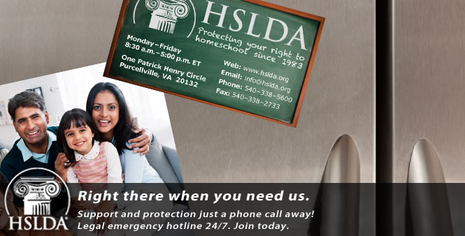 We're here when you need us. Legal emergency hotline for your homeschool. Join HSLDA today!