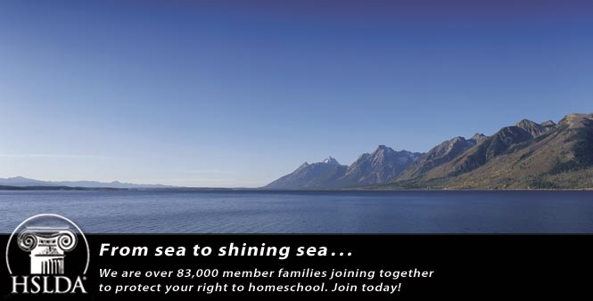 From sea to shining sea . . .  we are over 80,000 member families joining together to protect your right to homeschool. Join HSLDA today!