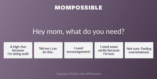 Hey Mom, what do you feel you need? Click here to join the conversation and see what other Moms are saying >>