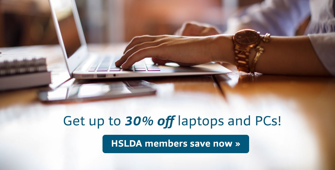 Get up to 30% off latops and PCs! One of the many PerX of being an HSLDA member! Click here to learn more >>