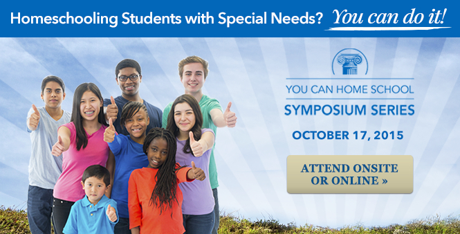 Don't miss HSLDA's You Can Homeschool Special Needs Symposium on October 17, 2015. Attend onsite or livestream online. Get details >>