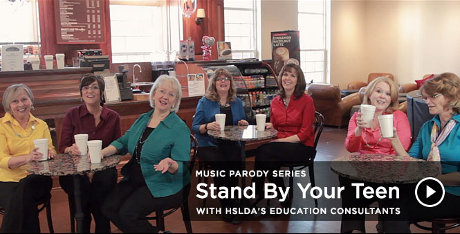 Homeschooling high school? Enjoy this heartwarming, encouraging music parody with HSLDA's education consultants: Stand By Your Teen. Watch >>