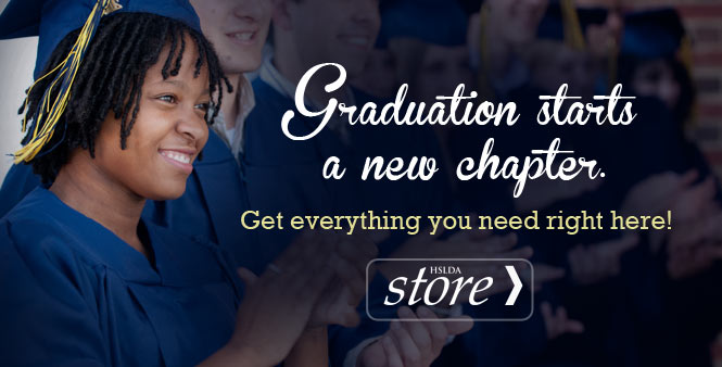 From diplomas to caps, gowns, and senior t-shirts, find all your graduation supplies at the HSLDA Store! Shop now! >>