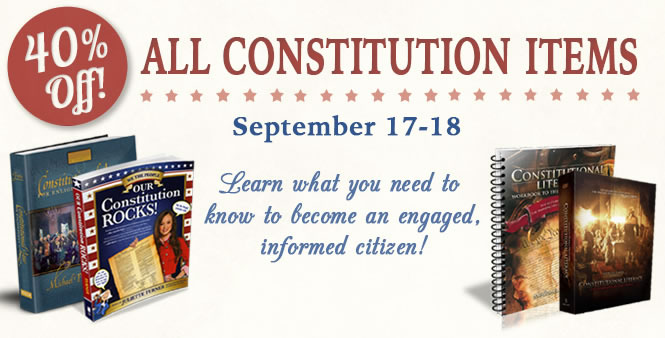SALE: Get 40% off all Constitution items, Sept. 17-18. Shop now >>