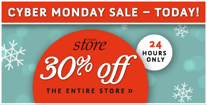 Get 30% off your entire order during Cyber Monday Sale in HSLDA's Store. Ends at midnight. Save now! >>