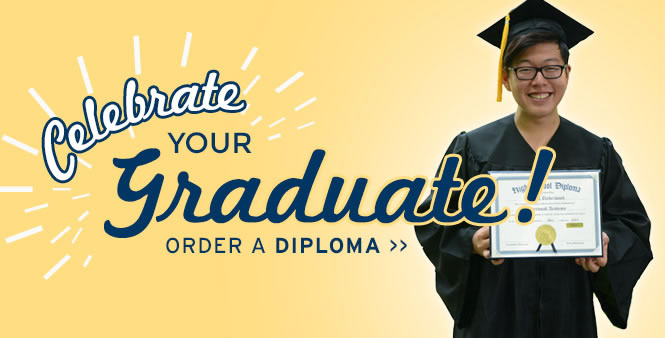 Celebrate your homeschool graduate! Order a high school diploma today from the HSLDA Store >>