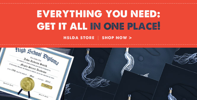Get all your homeschool graduation supplies in one place---the HSLDA Store! Shop now >>