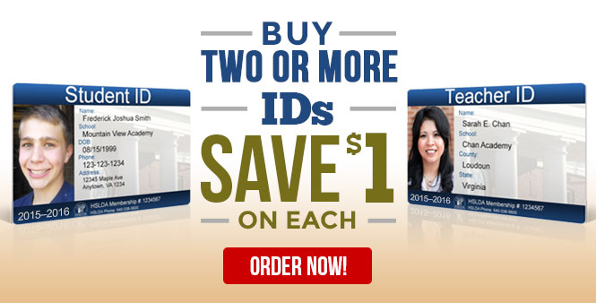 Buy 2 or more homeschool photo IDs and save $1 on each! Teacher and student versions. Order now >>