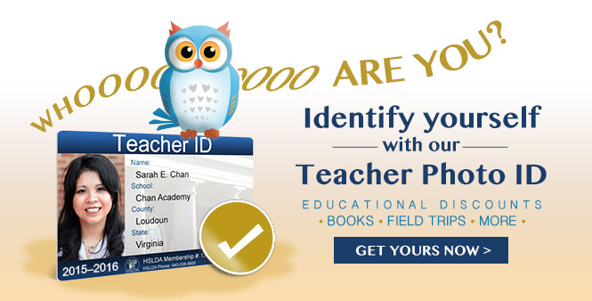 Get your HSLDA student or teacher ID today! Order now >>